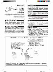 Panasonic Cf Aaxxxx  Ac Adapter  Operating Instructions