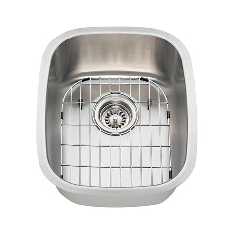 all in one sink polaris sinks all in one undermount stainless steel 15 in