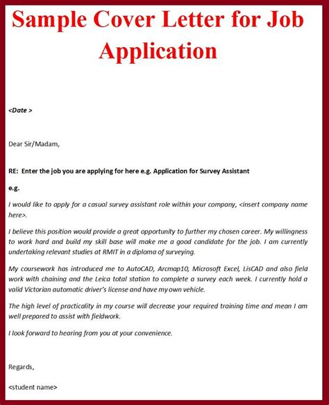 writing formal cover letters   sample  formal