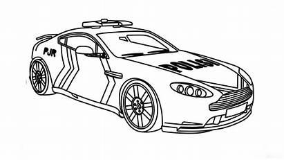Mewarnai Mobil Gambar Polisi Untuk Coloring Belajar
