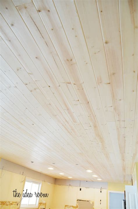 Wood Ceiling Planks by How To Diy A Wood Plank Ceiling Plank Ceiling The End