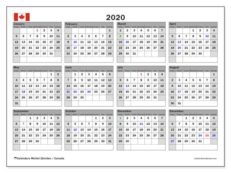 calendar canada michel zbinden en