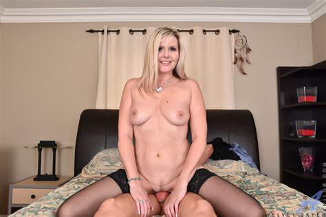 horny canadian milf velvet skye in a red thong and black