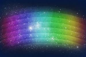 abstract paint rainbow star patterns of light space ...