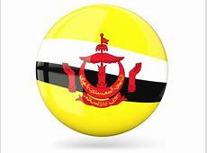Glossy round icon Illustration of flag of Brunei