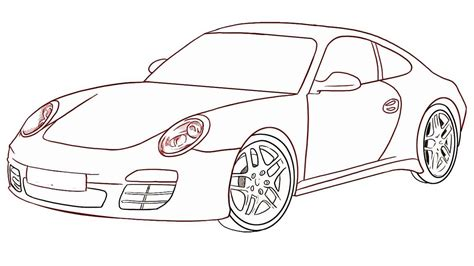 How To Draw A Car Step By Step With Pictures by How To Draw A Car Step By Step Draw A Car For