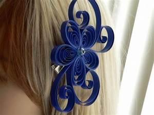 Unique Royal Blue Flower Hair Clip Wedding Blue Hair