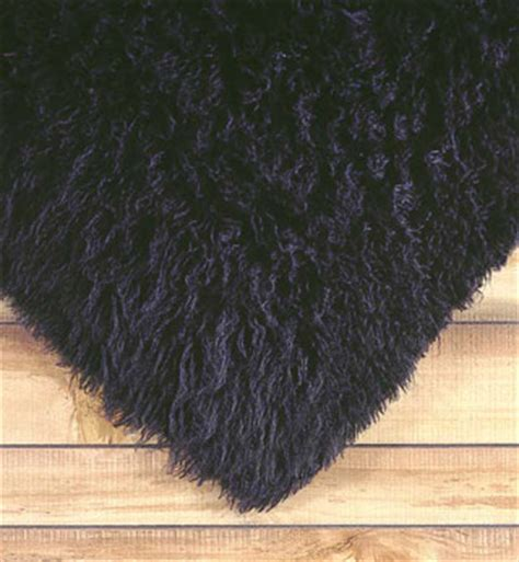 Black Fuzzy Rug by Black Shag Rugs