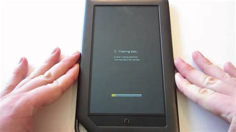 how to reset a nook color nook color revert to stock factory settings