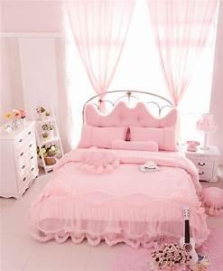 5, Colors, Cotton, Stain, Lace, Princess, Luxury, Bedding, Set