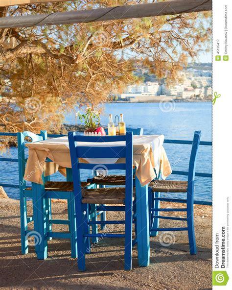seaside cafe terrace stock image image  seat open