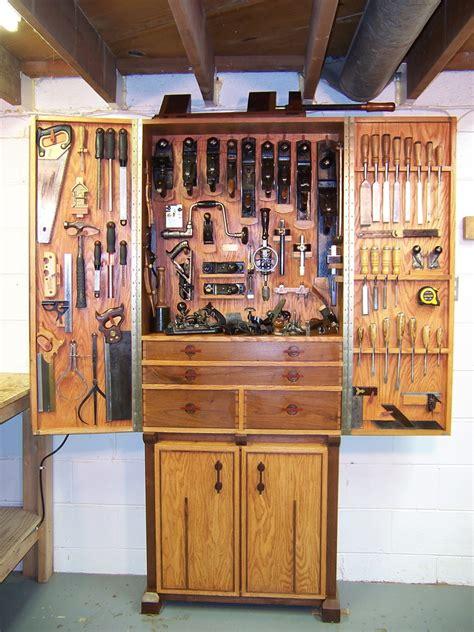 red oak  walnut tool cabinet finewoodworking