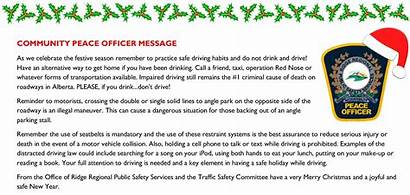 Message Season Peace Community Holiday Safe Safety