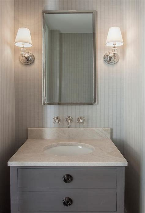 Restoration Hardware Maison Vanity by Gray Powder Room With Maison Single Vanity Sink