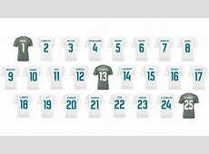 Real Madrid's 125 jersey numbers all taken except the