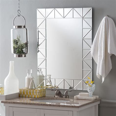 Modern Bathroom Mirror by Decor Miami Modern Bathroom Mirror 23 6w X 31