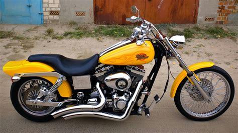 Harley-davidson Dyna Wide Glide Fxdwg 2001 Yellow Chopper