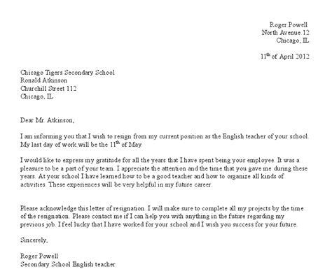 Formal Format Of Resignation Letter by Letter Of Resignation Template Http Webdesign14