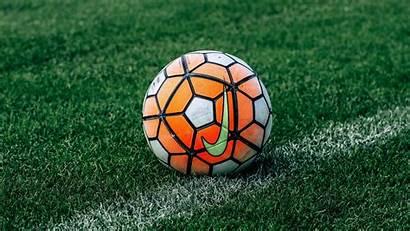 Soccer Football Ball Grass Lawn Monitor Ultrawide