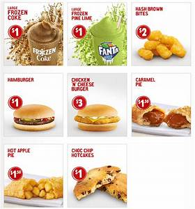 McDonald's Loose Change Menu (December 2017) | frugal feeds