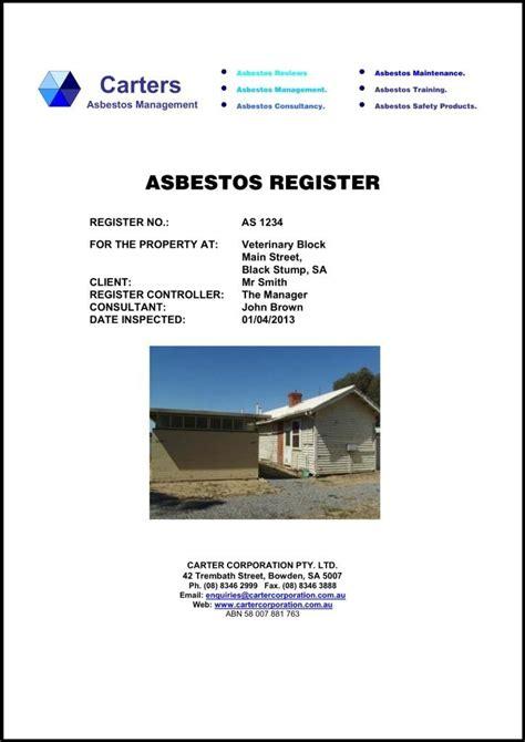 tips  info  upto date   asbestos registry