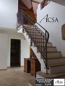 Rampe D Escalier Moderne : realisation d 39 escaliers et rampes d 39 escaliers en fer forg ~ Melissatoandfro.com Idées de Décoration