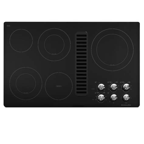 downdraft exhaust fan for cooktop shop kitchenaid 5 element smooth surface electric cooktop