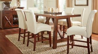 mango burnished walnut 5 pc counter height dining room dining room sets wood