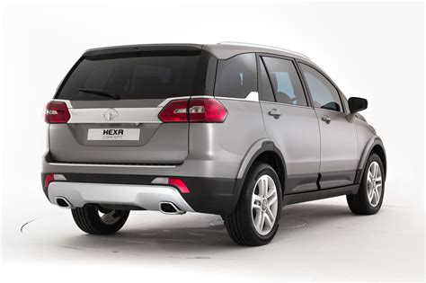 Tata Hexa Concept Rear Angle 2 Carblogindia