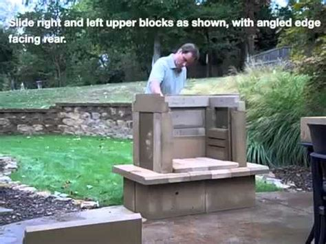 perfect outdoor fireplace kit assembly video youtube