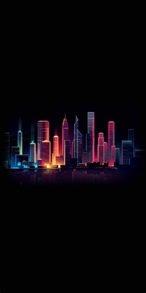 amoled dark city iphone wallpaper check