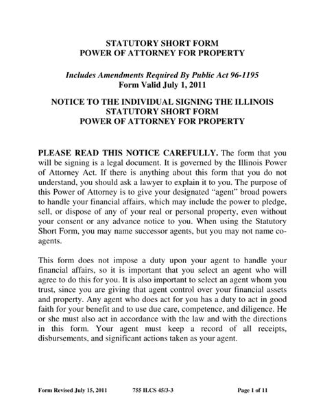 blank power of attorney form illinois free illinois durable financial power of attorney form