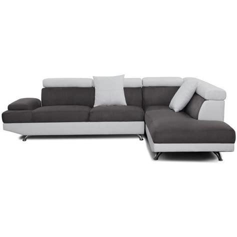 canapé d angle artic canapé d 39 angle droit artic coloris noir