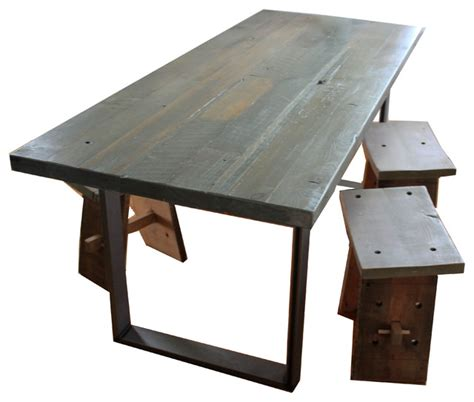 douglas fir dining table reclaimed douglas fir table metal legs table alone