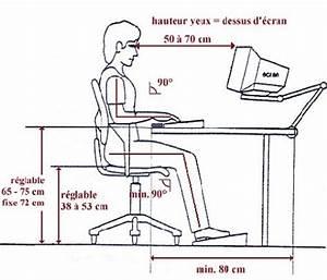 la bonne posture l ordinateur et pour le travail de