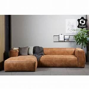 Couch Leder Cognac : eckgarnitur bean leder cognac couch polster sofa ecksofa longchair links in 2019 sofa co ~ Frokenaadalensverden.com Haus und Dekorationen