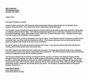 Sample Letter Of Business Closure For Employees