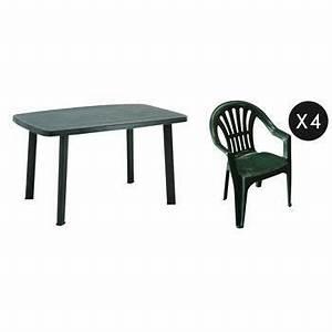 Table De Jardin Plastique : salon jardin plastique vert table de lit ~ Dailycaller-alerts.com Idées de Décoration