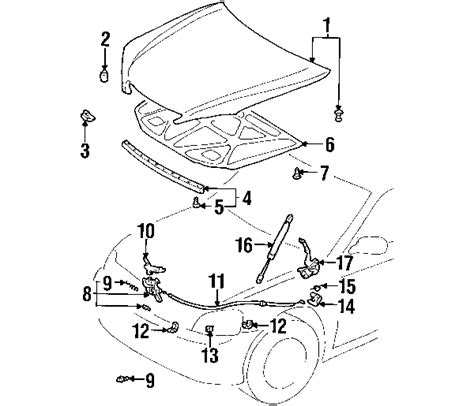 1997 Toyotum Avalon Engine Diagram by Parts 174 Toyota Camry Sunroof Oem Parts