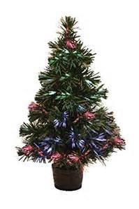 miniature led fibre optic christmas tree 30cm tall battery operated amazon co uk lighting