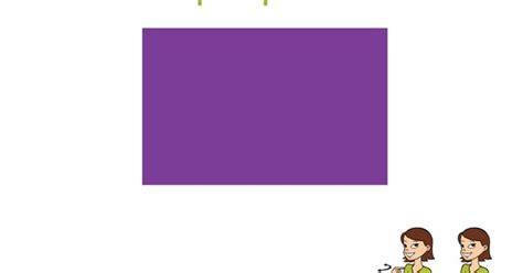 Purple Baby Sign Language Flash Card