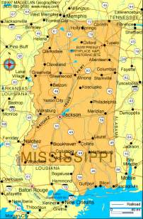 Mississippi Cities Map