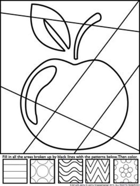 Worksheets Printable Apple Art