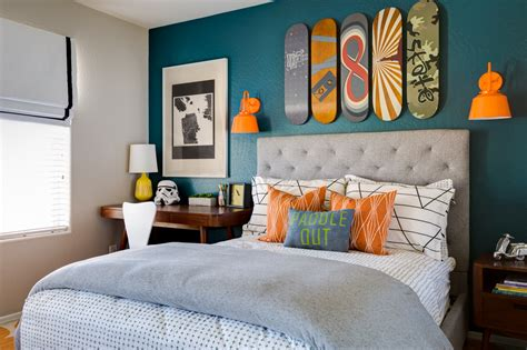 Green Upholstered Headboard by Design Reveal A Skateboarding Bedroom For Chase Project