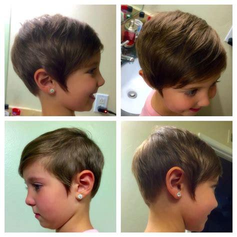 kids toddler short pixie haircut girls asymmetrical hair