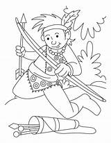 Coloring Archery Pages Arrow Collecting Cartoon Books Printable Sheets Printables Games Archer Children Female Outline sketch template