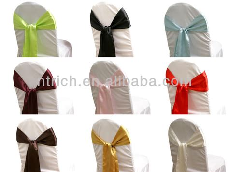 fancy vogue satin chairs cover tie backs bow tie knot