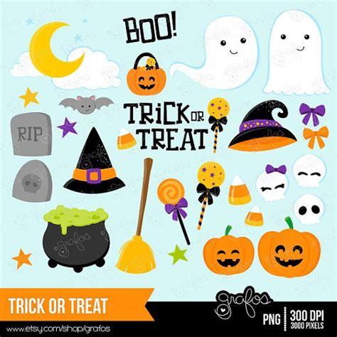 trick  treat digital clipart halloween clipart trick
