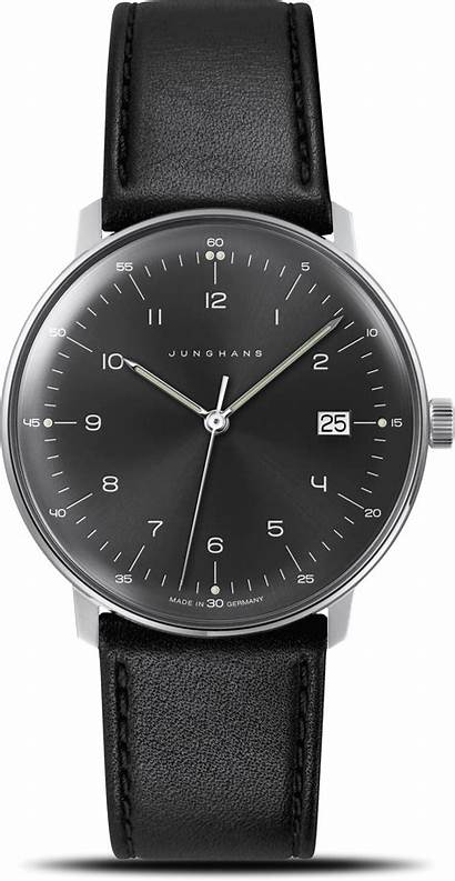 Junghans Quarz Bill Armbanduhr Brogle Zifferblatt Armband