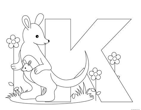 printable animal alphabet letter   kangaroo  printable coloring pages  kidsfree